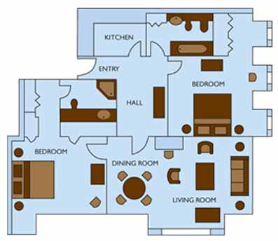 Two Bedroom Premium Residence*